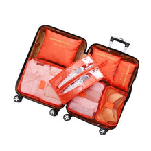 Charger l'image dans la galerie, 3D 7Pcs/set Luggage Organizer Clothes Finishing Kit Storage Bag Cosmetic toiletrie Storage Bag Home Travel Accessories