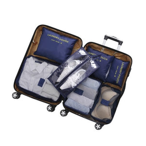 3D 7Pcs/set Luggage Organizer Clothes Finishing Kit Storage Bag Cosmetic toiletrie Storage Bag Home Travel Accessories