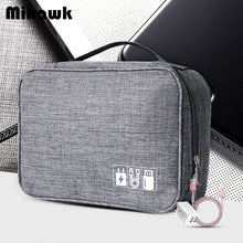 Charger l'image dans la galerie, Mihawk Waterproof Digital Bags Travel USB Cable Tote Hard Disk Wires Case Power Bank Mobile Phone Organization Pouch Accessories