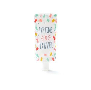 Cute Portable Travel Folding Dispensing Bag Shower Shampoo Bottle Facial Cleanser Liquid Storage Bag Dropshipping 1 Pcs