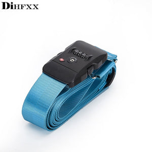 DIHFXX 4.2m TSA 3 Digit Customs Password LockLuggage Belt Adjustable Travel Luggage Cross Strap for 18-34 inches Suitcase