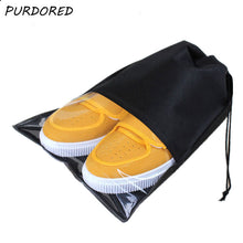 Charger l'image dans la galerie, PURDORED 1 pc Portable Waterproof Shoes Storage Bag Pouch Travel Organizer Drawstring Bag  Laundry Organizador Dropshipping