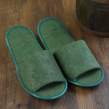Charger l'image dans la galerie, 1 pair Foldable Home Hotel Breathable  Slippers SPA Travel Salon Wear With Storage Cotton Cloth Travel Accessories