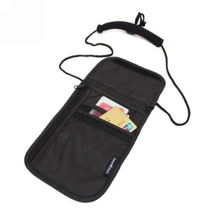 Anti-Theft Travel Passport Neck Bag Nylon Phone Wallet Pouch for Men and Women Mini Crossbody Bag Neck Wallet Passport Pouch