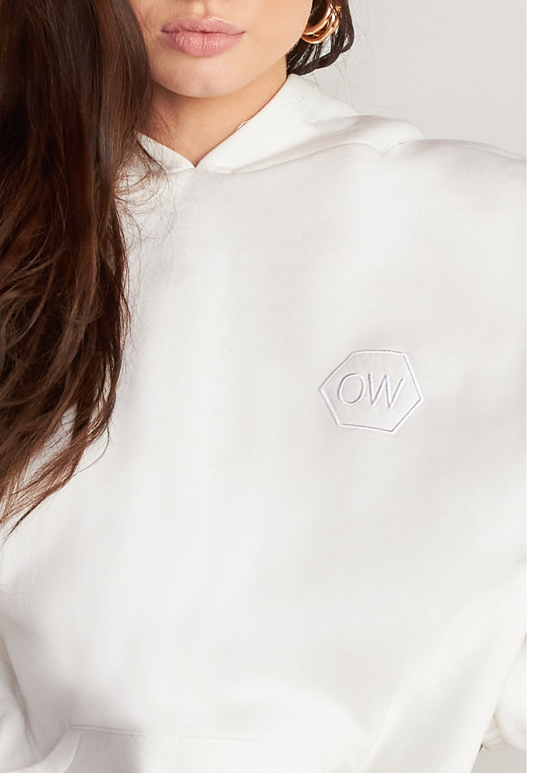 OW INTIMATES OW Hættetrøje Hoodie 001 - White