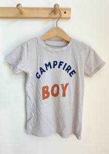 Campfire Boy Kids Tee in Pewter