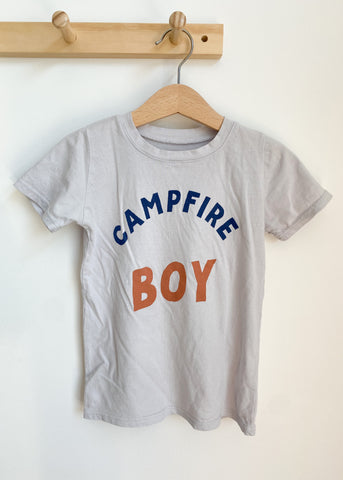 LAST ONE! 3-6M Campfire Boy Kids Tee in Pewter