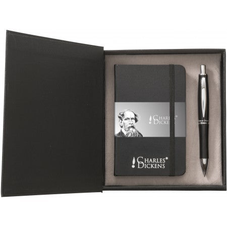 Charles Dickens? writing set, black