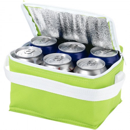 Spectrum 6 can cooler bag, green, 20 x 15 x 12 cm