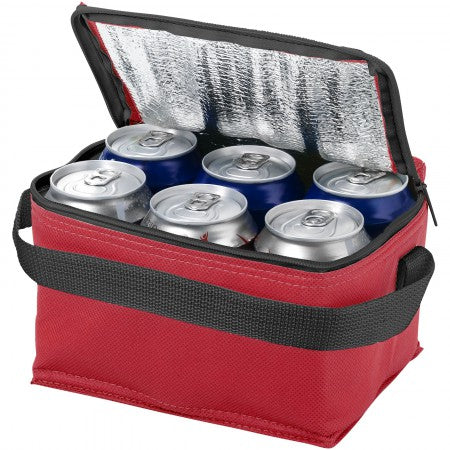 Spectrum 6 can cooler bag, red, 20 x 15 x 12 cm