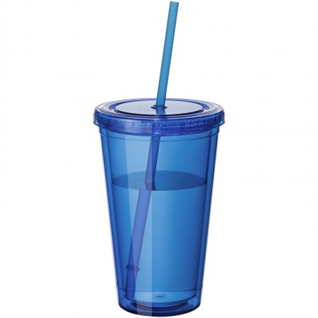 Cyclone insulated tumbler and straw, blue, 15,5 x d: 10 cm
