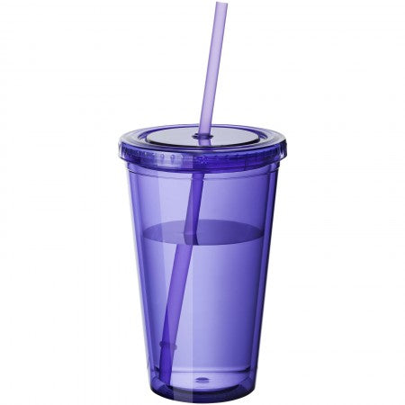 Cyclone insulated tumbler and straw, purple, 15,5 x d: 10 cm