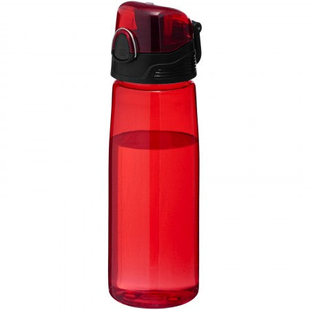 Capri sports bottle, red, 25 x d: 7,7 cm