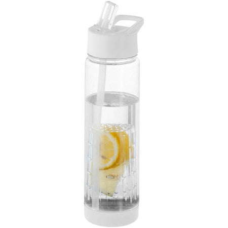 Tutti frutti bottle with infuser, transparent, 25,9 x d: 7,1