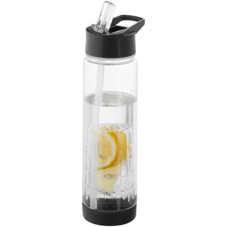 Tutti frutti bottle with infuser, black