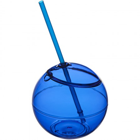 Fiesta ball and straw, blue, 23 x d: 12 cm