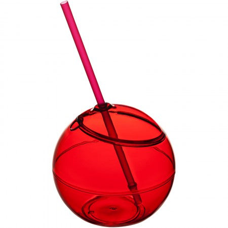 Fiesta ball and straw, red, 23 x d: 12 cm