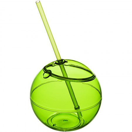 Fiesta ball and straw, green, 23 x d: 12 cm