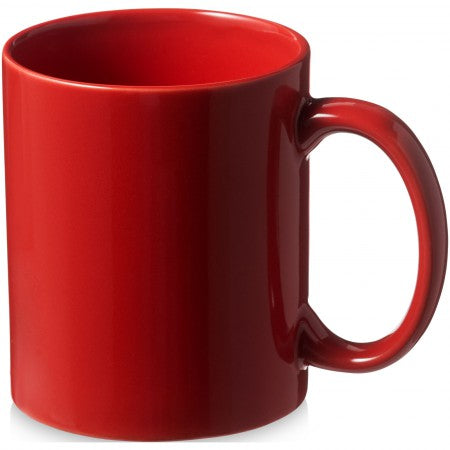 Santos ceramic mug, red, 9,7 x d: 8,2 cm