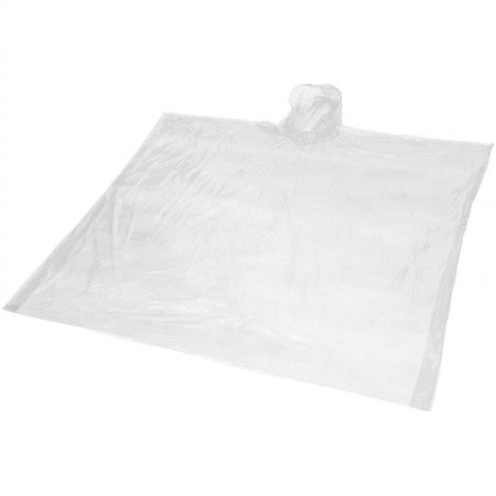Ziva disposable rain poncho with pouch, white, 15,8 x 10,7 x