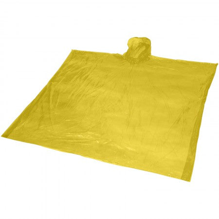 Ziva disposable rain poncho with pouch, yellow, 15,8 x 10,7