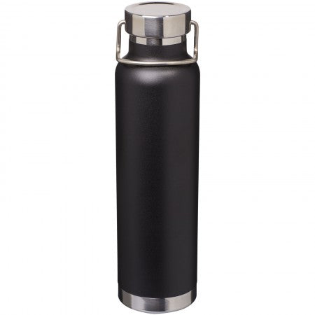 Thor Copper Vacuum Insulated Bottle, solid black, 27,2 x d: