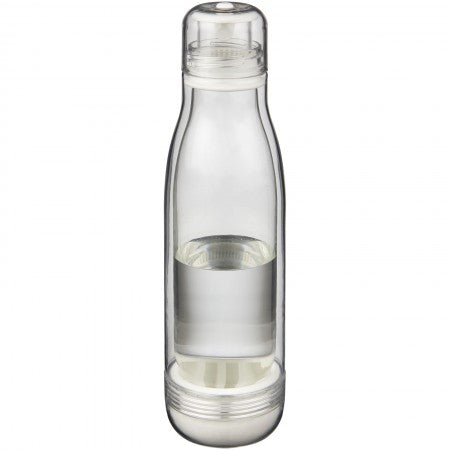 Spirit sports bottle with glass liner, transparent, 26,5 x d