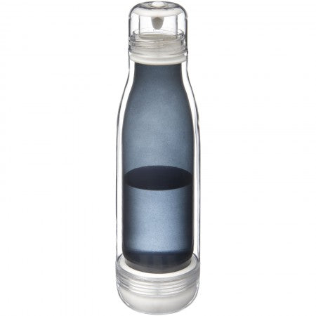 Spirit sports bottle with glass liner, solid black, 26,5 x d