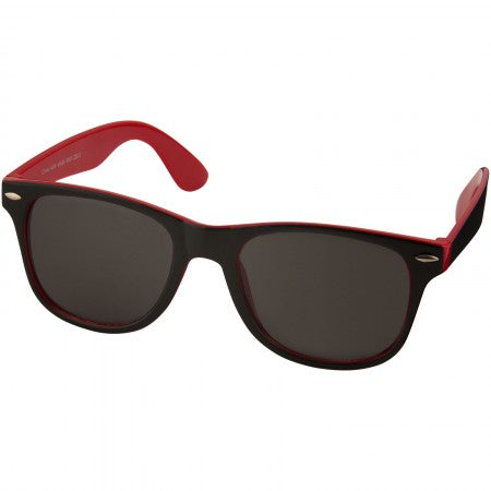 Sun Ray sunglasses - black with colour pop, red, 14,5 x 15 x