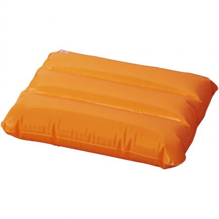 Wave inflatable pillow, orange, 25 x 32 cm
