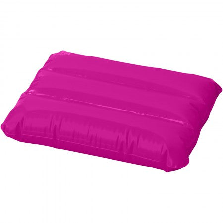 Wave inflatable pillow, pink, 25 x 32 cm