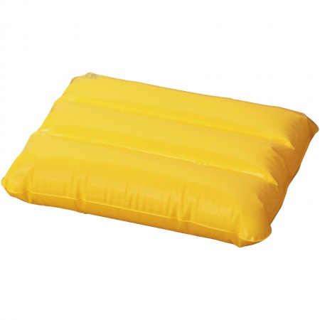 Wave inflatable pillow, yellow, 25 x 32 cm