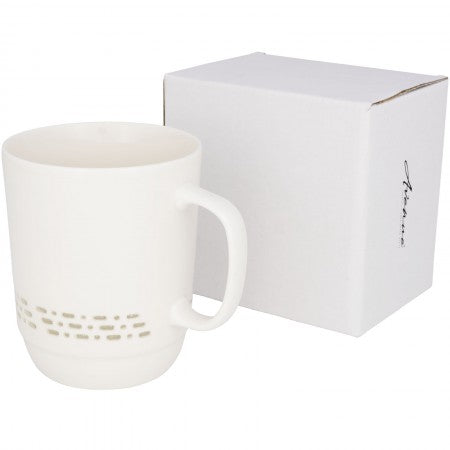 Glimpse see-trough ceramic mug, White