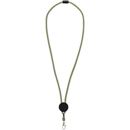 Hagen two-tone lanyard with adjustable disc, green, 3,2 x 50