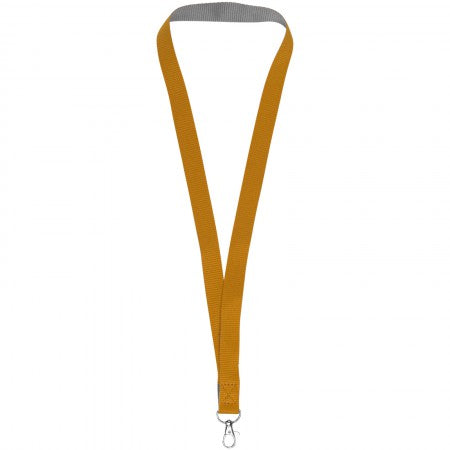 Aru two-tone lanyard with velcro closure, orange, 2 x 45 cm