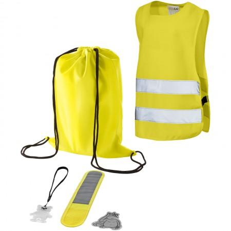 5 piece children safety set, yellow, 18 x 40 x 5 cm - BRANIO