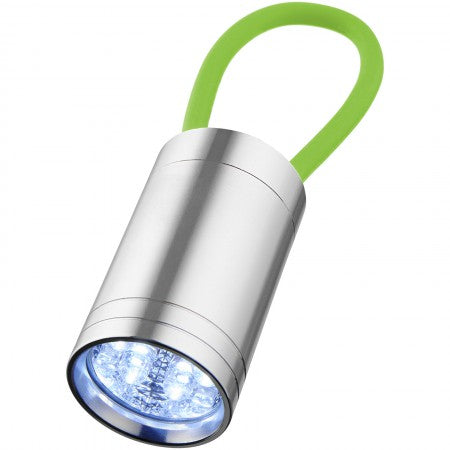 Vela 6 LED torch with glow strap, lime