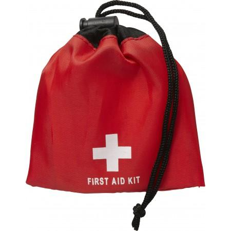 11 Piece first aid kit, red - BRANIO