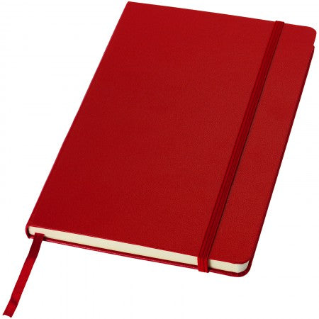 Classic office notebook, red, 21,3 x 14,4 x 1,5 cm