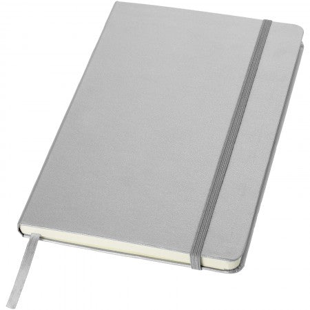 Classic office notebook, grey, 21,3 x 14,4 x 1,5 cm