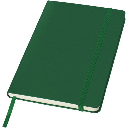 Classic office notebook, green, 21,3 x 14,4 x 1,5 cm