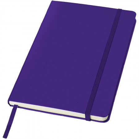 Classic office notebook, purple, 21,3 x 14,4 x 1,5 cm
