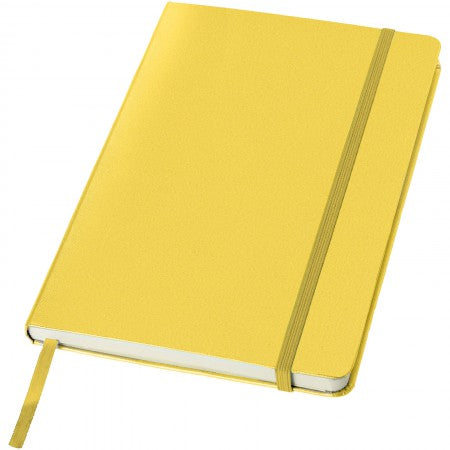 Classic office notebook, yellow, 21,3 x 14,4 x 1,5 cm