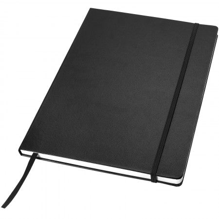 Classic executive notebook, solid black, 29,7 x 21 x 1,5 cm