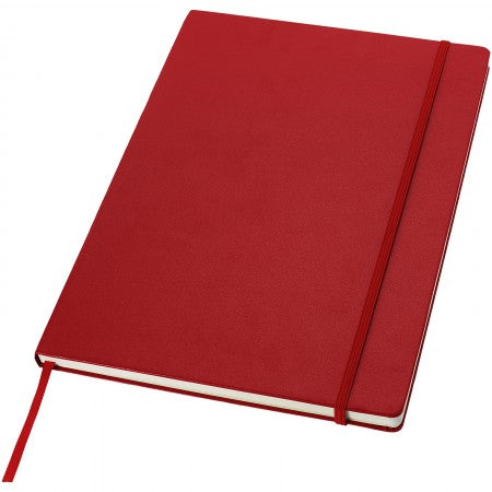 Classic executive notebook, red, 29,7 x 21 x 1,5 cm