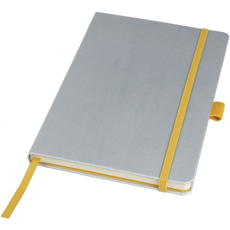 Melya Colourful Notebook, grey, 21,4 x 14,2 x 1,5 cm