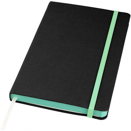 Frappé Fabric Notebook, solid black, 21 x 13 x 1,7 cm