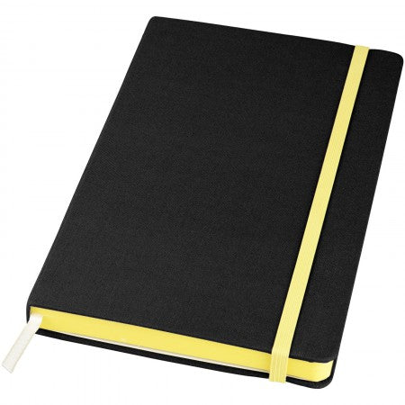 Frappé Fabric Notebook, solid black, 21 x 13 x 2 cm