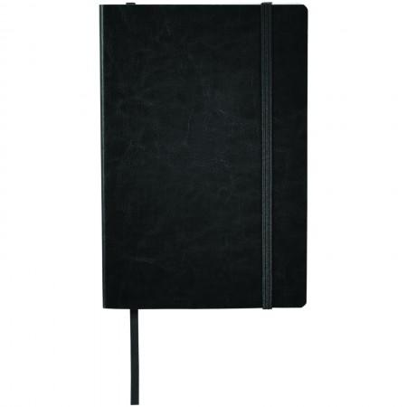 A5 PU Leather Notebook, solid black - BRANIO
