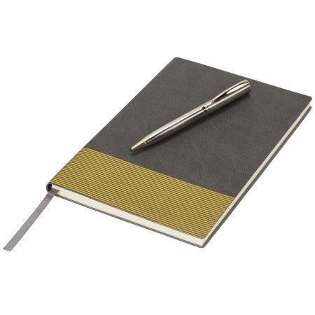 Midas Notebook & Pen Gift Set, Grey